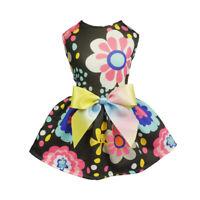 Fitwarm Spring Flowers Dog Dress Pet Clothes Summer Shirt Party Apparel Princess
