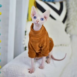 Sphynx Cat Clothes Thickness Warm Cat Sweater  for Small and Medium Cat and Dogs