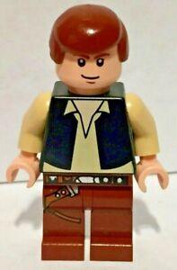 Han Solo Star Wars Character Lego Minifigure Light Nougat Black Vest SW0179