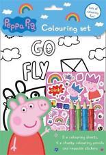 Peppa Pig Colouring Set Art & Craft Pencils & Stickers Travel Activity Book