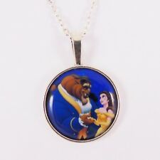 BEAUTY AND THE BEAST NECKLACE disney princess belle tale as old as time lumiere