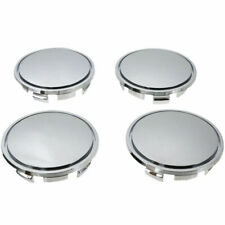 4x 65mm ABS Chrome Auto Car Wheel Center Tyre Rim Hub Cap Cover Kit Universal
