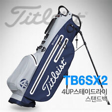 Titleist 4UP Stadry Stand Bag Gray and Navy TB6SX2-24 Golf Caddie Bag Club v e