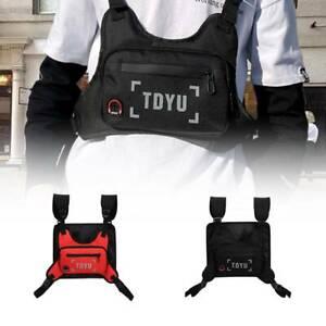 Chest Rig Vest Canvas Bag Hip Hop Functional Tactical Harness Chest Waist Pack