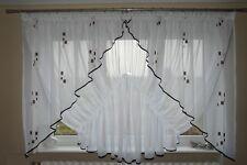 Prêt À L'emploi Rideau De Fenêtre Voile Filet 150 x 400 cm Marron AG19 Art Déco