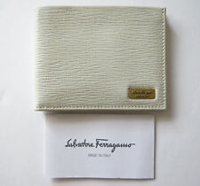 SALVATORE FERRAGAMO Revival Pebble Leather Bifold Wallet ID Card Holder