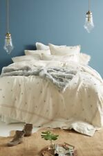 NEW Anthropologie Nikea Neutral Queen Duvet Cover