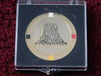 "2006 DEVILS TOWER NATIONAL MONUMENT CENTENNIAL - 2""/51mm GOLD-TONE MEDALLION"