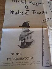 T3 PATRON POUPEE .MICHEL BAIGNEUR MODES & TRAVAUX COSTUME MOYEN AGE1960