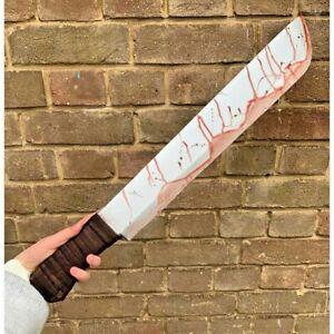 Bloody Machete Hard Foam Realistic Halloween Fancy Dress Costume Party Weapon UK