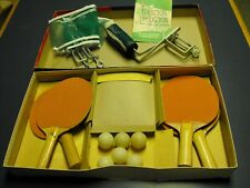 vintage 1959 PARKER BROTHERS PING PONG TABLE TENNIS SET COMPLETE W/ INSTRUCTION