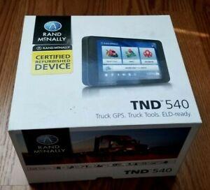 """RAND McNALLY TND-540 TND540 5"""" TRUCK GPS NAVIGATION SYSTEM"""