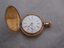 Vintage 14k Yellow Gold Full Hunter Case Pocket Watch -The Nassau #163503