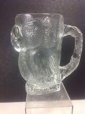 Large LAS VEGAS Clear Sculpted PARROT Beer Mug TROPICANA Casino VGC