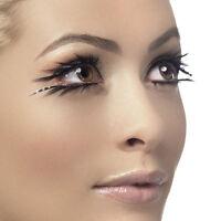 Black False Eyelashes with Sparkle Detail - Dramatic Fancy Dress Fake Lashes