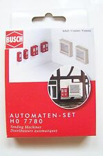 HO Busch Wall Mounted VENDING MACHINES : Model Detail KIT # 7780