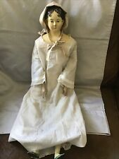 Extremely Rare Large 1820's Milliner Model Papier Mache Doll Short Curl Hairdo