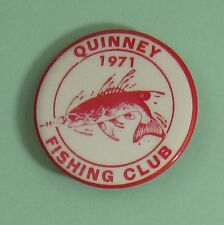 1971 Quinney Wisconsin Muskie Fishing Club Membership Button...Free Shipping!