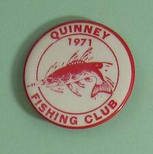 1971 Quinney Wisconsin Muskie Fishing Club Membership Button.Free Shipping!