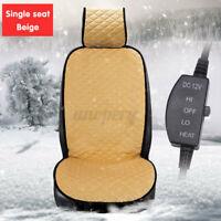 12V Universal Heated Car Cover Seat Heater Pad Cushion Winter Warmer Beige