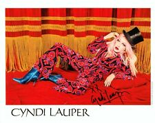 More details for cyndi lauper signed photo card girls just wanna have fun genuine autograph + coa