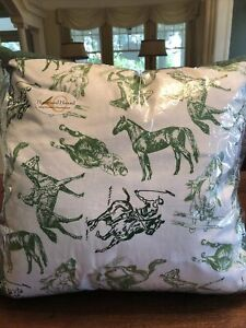 """NWT Pomegranate Equestrian Sketch 18"""" Square Pillow"""