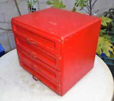 Vintage Dutch Haberdashery Shop Wooden 4 Drawer Cabinet. Ketting Brand. Wirral
