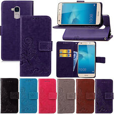 NEW Magnetic Wallet flowers PU leather stand cover case & strap #41