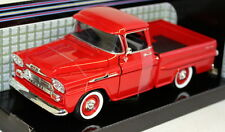 Motormax 1/24 Scale 1958 Chevy Apache Fleetside Pickup Red Diecast model car