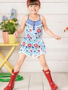 New Girls Matilda Jane Adventure Begins Tug of War romper Size 4