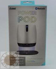 iWave Power POD Bluetooth Wireless Charging Speaker SP58031-WH, New