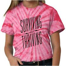 Surviving Thriving Breast Cancer Awareness Ladies TieDye Tees T For Women