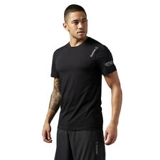 T-Shirt Reebok Les Mills Grit Tee Men's Training Short Sleeve Tee Black Wicking