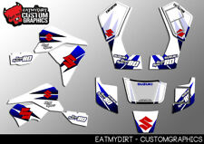 Suzuki LT80 1987-2007 kit completo personalizado de gráficos Pegatinas Calcomanías De Motocross Atv Mx