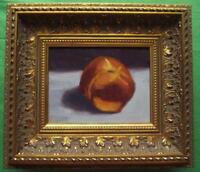Wrinkled Nectarine : Original Impressionist Oil Painting on Board : Shaun Viney