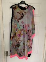 Ted Baker Floral Dress size 4 Uk 14