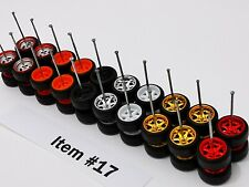 10 set MIX 6 & 4 spoke premium rubber wheels for HW JDM 1:64 cars