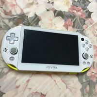 PlayStation Vita Wi-Fi Model Lime Green and White PCH-2000 with 8GB memory card