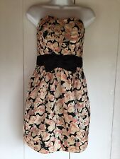 Ladies strapless dress by H&M size Uk 8 Euro 36fully Lined