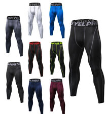 Mens Compression Athletic Tights Running Basketball Long Pants Quick-dry Wicking
