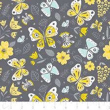 Fabric 100% Cotton Camelot Flutter Buzz Butterflies Allover