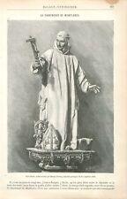 Saint Bruno Statue Bois de Manuel Pereira à Miraflores de la Sierra GRAVURE 1886