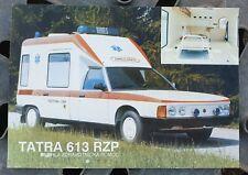 Prospekt Brochure Tatra 613 RZP Krankenwagen tschechisch