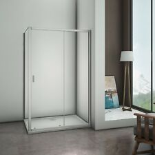 1200x700mm Aica Walk In Sliding Shower Enclosure Glass Door Cubicle  SD