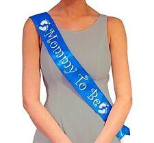 Distintivo Para Baby Shower Banda Azul Para Futuras Mamás Talla Única Color Azul