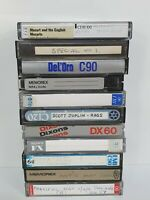 Job lot 10 Retro Vintage Blank Used Cassette Tapes Mixed Maxell TDK Sony etc