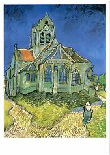 VAN GOGH Post Card: The Church at Auvers-sur-Oise, 1890 - New vintage postcard