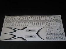 Cannondale Iroman Stickers  White & Silver.
