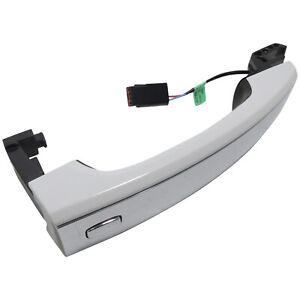 Door Handle Rear LH or RH Painted Summit White GAZ w/Chrome New OEM GM 13577718