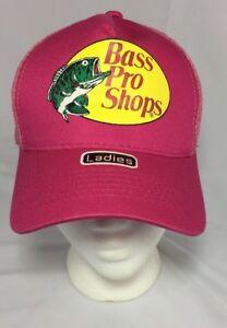 Women's Bass Pro Shops Fishing Hat Pink Mesh Sports NEW